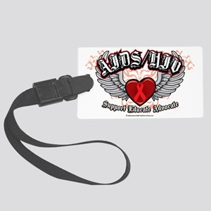 AIDS-HIV-Wings Large Luggage Tag