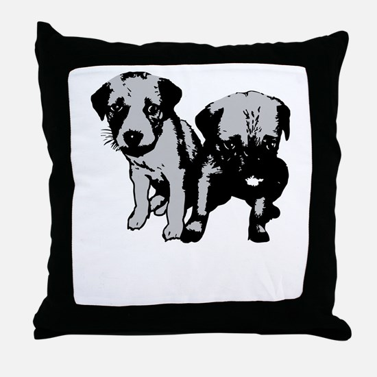 dont-breed-or-buy-2009-blk Throw Pillow