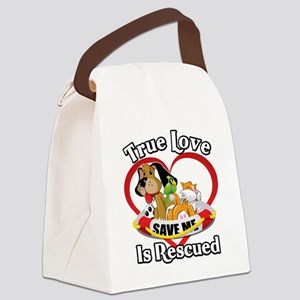 Rescued-Love-2009-blk Canvas Lunch Bag