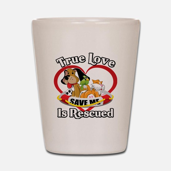 Rescued-Love-2009-blk Shot Glass