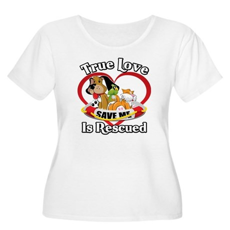 Rescued-Love- Women's Plus Size Scoop Neck T-Shirt