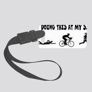 try-doing-this-at-my-size---tri- Small Luggage Tag
