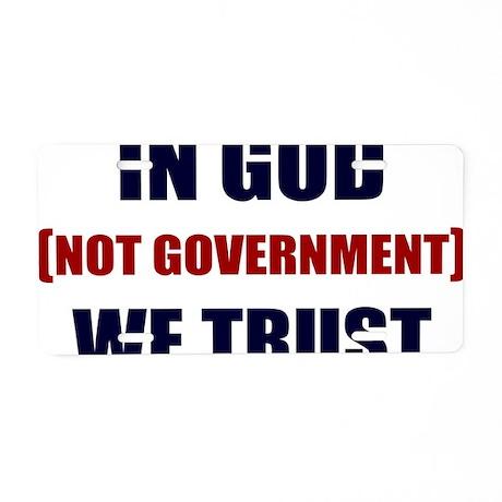 In-God-Not-Gov-(white-shirt Aluminum License Plate