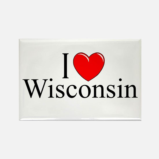 """""""I Love Wisconsin"""" Rectangle Magnet"""