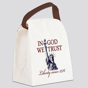 In-God-We-Trust-(white-shirt) Canvas Lunch Bag