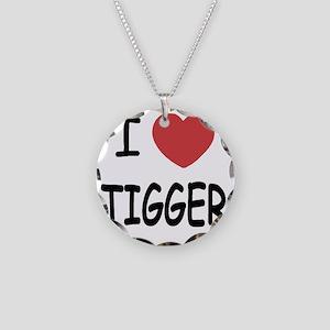 TIGGER Necklace Circle Charm