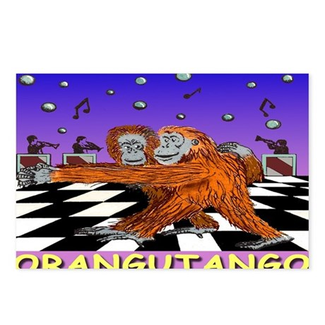 ORANGUTANGO greeting card Postcards (Package of 8)