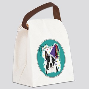 boston terrier party animal Canvas Lunch Bag