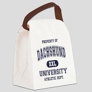 Dachshund-University Canvas Lunch Bag