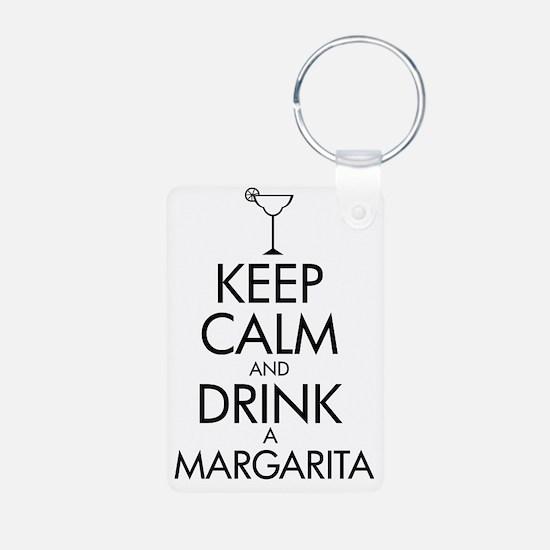 2-margarita black Keychains