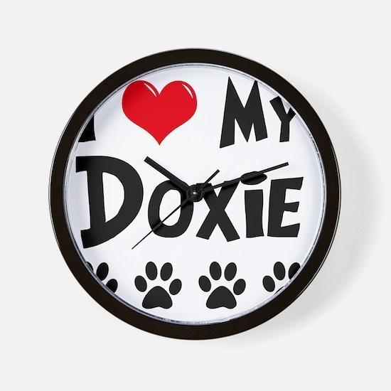 I-Love-My-Doxie Wall Clock