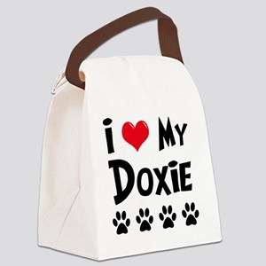 I-Love-My-Doxie Canvas Lunch Bag