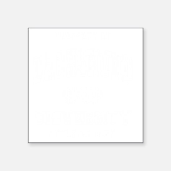 "Dachshund-University-dark Square Sticker 3"" x 3"""