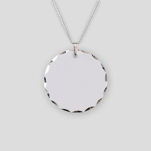 Dachshund-University-dark Necklace Circle Charm
