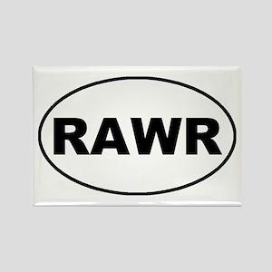 Rawr oval-white Rectangle Magnet