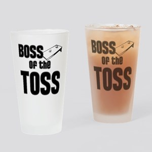 Cornhole_Boss_Black Drinking Glass