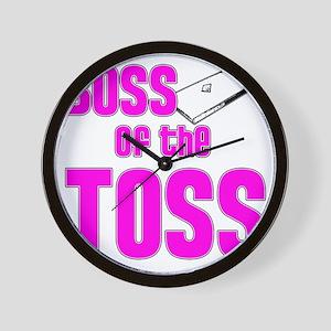 Cornhole_Boss_Pink Wall Clock