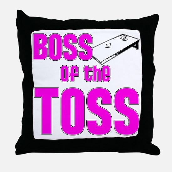 Cornhole_Boss_Pink Throw Pillow
