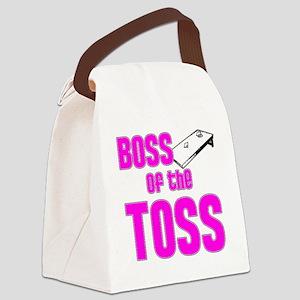 Cornhole_Boss_Pink Canvas Lunch Bag