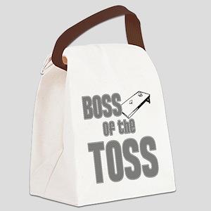 Cornhole_Boss_Grey Canvas Lunch Bag