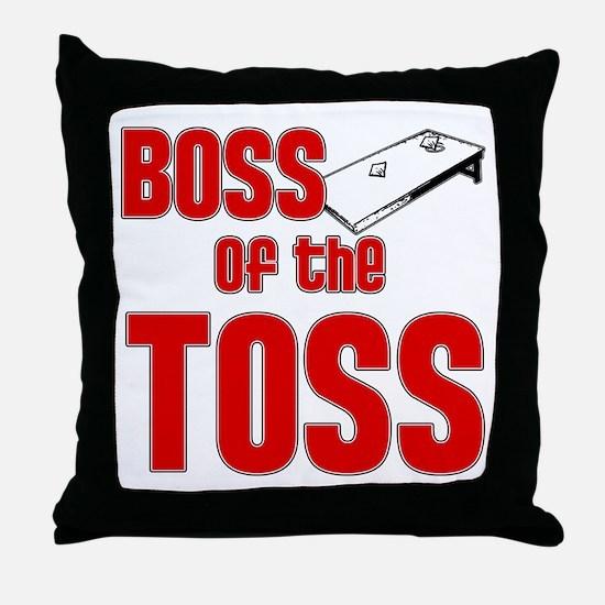 Cornhole_Boss_Red Throw Pillow
