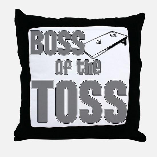 Cornhole_Boss_Grey Throw Pillow
