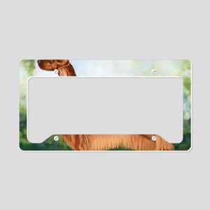 Irish Setter 3 by Dawn Secord License Plate Holder