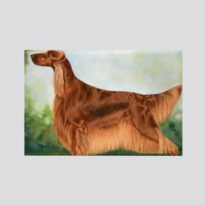 Irish Setter 3 by Dawn Secord Rectangle Magnet