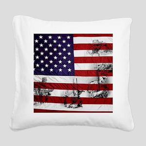 SOLDIER FLAG Square Canvas Pillow