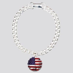 SOLDIER FLAG Charm Bracelet, One Charm