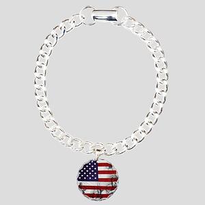 SOLDIER FLAG Charm Bracelet, One Charm