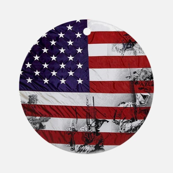 SOLDIER FLAG Round Ornament
