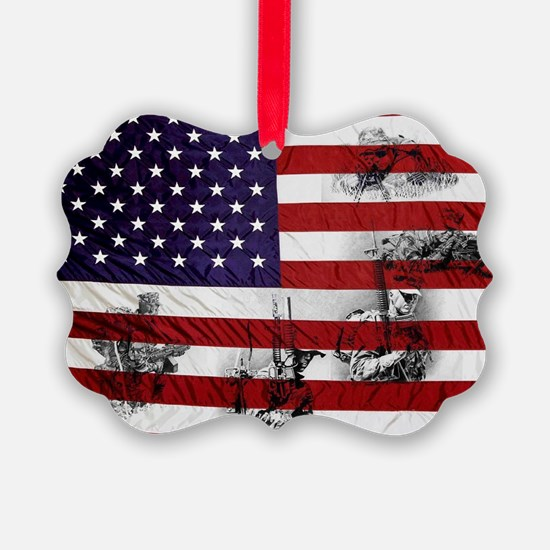 SOLDIER FLAG Ornament
