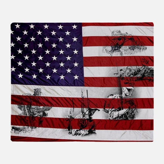 SOLDIER FLAG Throw Blanket