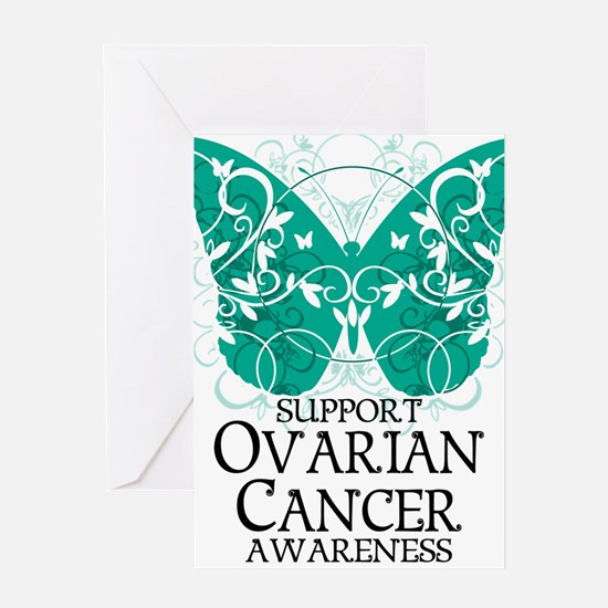 Ovarian-Cancer-Butterfly Greeting Card