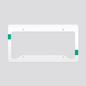 Think-TEAL-Ovarian-Cancer-blk License Plate Holder