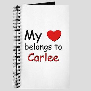 My heart belongs to carlee Journal