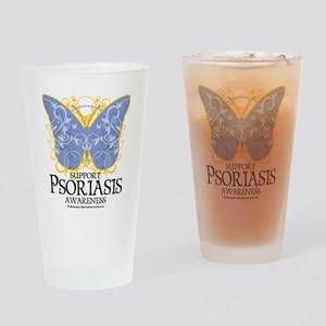 Psoriasis-Butterfly Drinking Glass