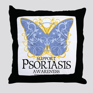 Psoriasis-Butterfly Throw Pillow
