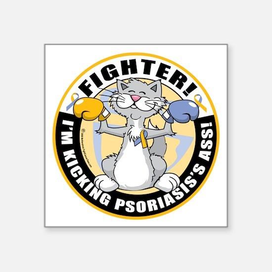 "Psoriasis-Cat-Fighter Square Sticker 3"" x 3"""