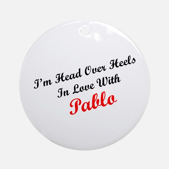 In Love with Pablo Ornament (Round)