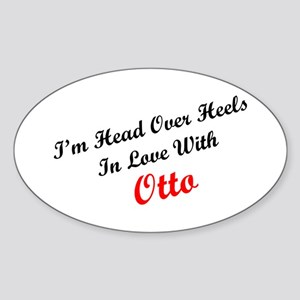 In Love with Otto Oval Sticker