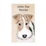 Wire Fox Terrier Sticker (Rectangle)