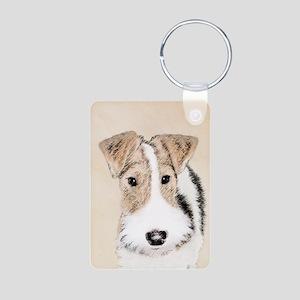Wire Fox Terrier Aluminum Photo Keychain