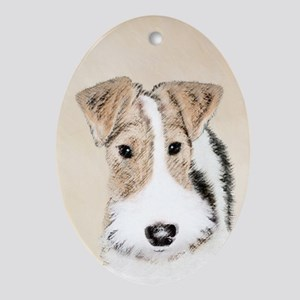 Wire Fox Terrier Oval Ornament