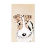 Wire Fox Terrier Sticker (Rectangle 50 pk)
