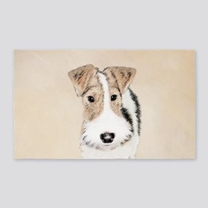 Wire Fox Terrier Area Rug
