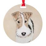 Wire Fox Terrier Round Ornament