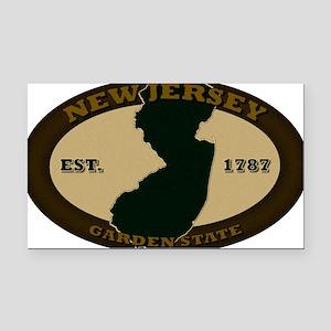 New Jersey Est 1787 Rectangle Car Magnet