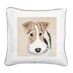 Wire Fox Terrier Square Canvas Pillow